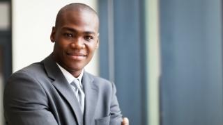 Businessman in a suit