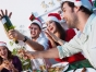 Young people celebrating together at Christmas
