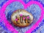Rock painted with LOVE.