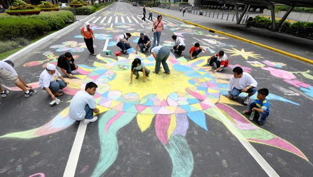 Philippines chalk drawing