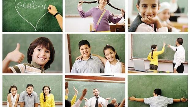 School children collage