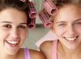 Friends in curlers