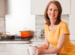 Gretchen Rubin in the kitchen