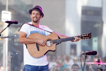Recording artist Jason Mraz performs in concert at NBC's 'Today Show'