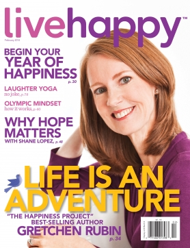 Live Happy magazine cover, February 2014